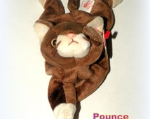TY Pounce Beanie Baby W/ Tag ERROR- Pounce the Cat