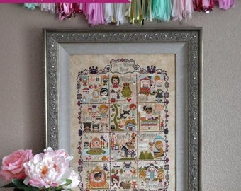 Once Upon A Time Sampler cross stitch patterns by Frosted Pumpkin Stitchery SAL classic stories thecottageneedle.com