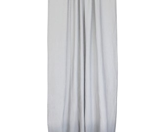 Dove grey linen curtain panels Ombre window drapes. Grey fade to dove grey, custom length, 2 lining options, natural linen curtains
