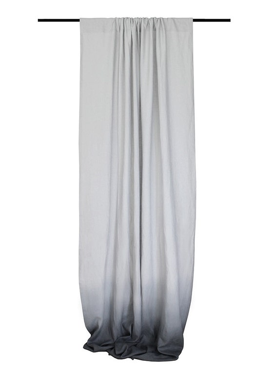 Dove Grey Linen Curtain Panels Ombre Window By Lovelyhomeidea