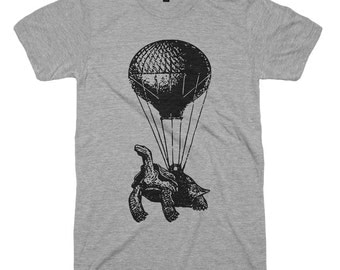 On Sale Hot Air Balloon T-Shirt Flying Turtle Funny Tshirts Mens Womens Kids T Shirt Gifts For Him Vintage Retro Gifts Turtle Shell Yeah