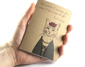 Small Notebook Frida Kahlo Quote, Cat Notebook
