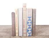 Old Books Vintage Books / Decorative Books / Antique Books / Vintage Mixed Book Set / Beige Tan Books / Books by Color / Books for Decor