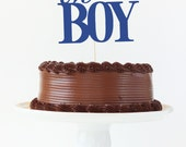Boy Baby Shower Cake Topper Oh Boy Cake Topper Gender Reveal Party Navy Blue Party Supplies Baby Boy Cake Topper Boy Baby Shower Decorations