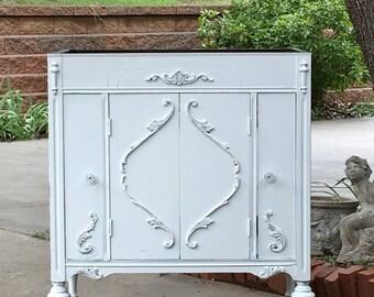 BATHROOM Vanity Shabby Chic Bathroom Vanity Cabinet Converted From Antique Furniture 100% Custom Order