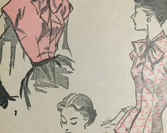 Vintage Advance 4011 Blouse Pattern 1940s Size 14