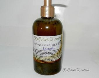 Lavender  8 floz. African Liquid Black Soap