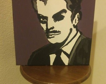 abstract Vincent Price painting