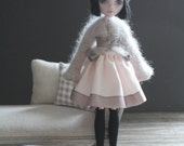 Monster High Latte Angora Wrap Cardigan with ruffles.