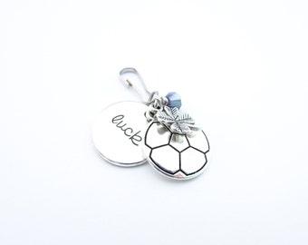 Soccer Gifts For Girls, Soccer Zipper Pull, Soccer Gifts, Soccer Player Gift, Soccer Bag Charm, Soccer Bag