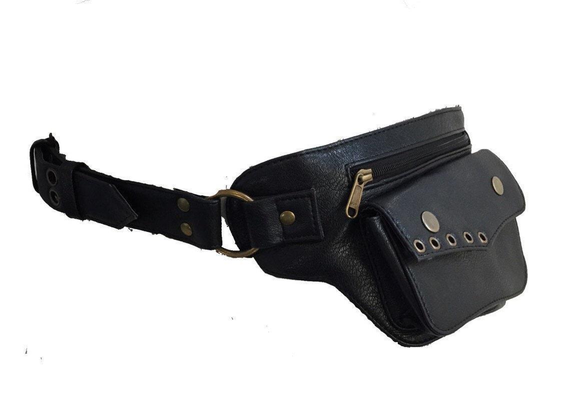 vegan leather utility belt pocket belt pack utility