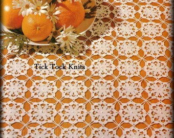 No.483 Crochet Pattern PDF Vintage - Eloise Square Table Runner - Thread Crochet Lace Motif Table Setting - 1970's Retro Crochet Pattern
