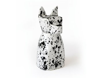 Large Anbuis Dog Urn - Ink Spots