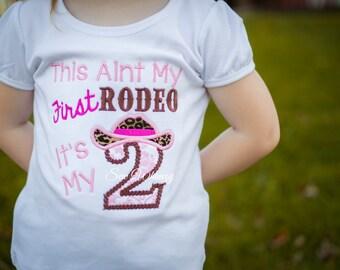 Cowgirl birthday shirt- Rodeo Shirt- Birthday Girl Applique Shirt- Country Girl Birthday shirt- Farm Girl Birthday shirt- Girl's Birthday