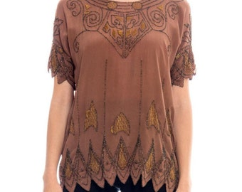 1920s Beaded Top Size: M