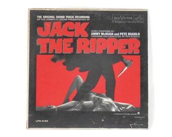 Vintage Horror Jack the Ripper LP Original Soundtrack LPM 2199 RCA Victor Label Movie Memorabilia
