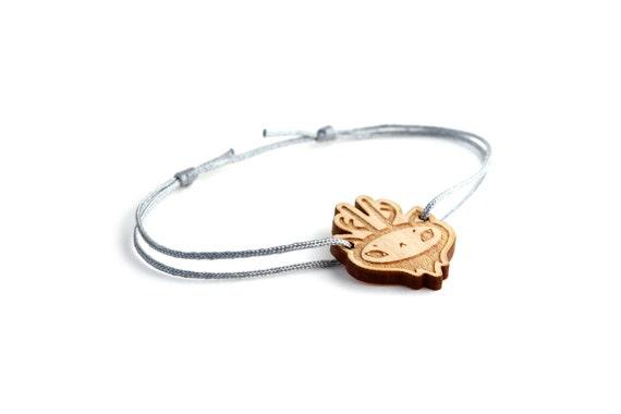 Deer bracelet - 25 colors - cute animal bangle - adjustable bracelet - lasercut maple wood - minimalist jewelry - unisex - customizable