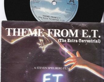 """JOHN WILLIAMS Theme From E.T. 1982 Uk Issue 7"""" 45 rpm Vinyl Single Record soundtrack pop 80s Hollywood Film Spielberg ET Mca800 Free s&h"""