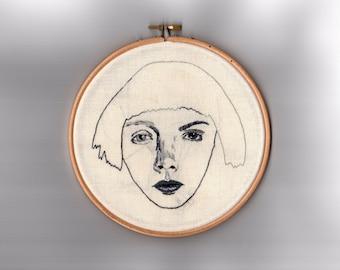 "Pretty Ugly // Original Artwork // Hand Embroidery // 7"" Hoop // Illustration"