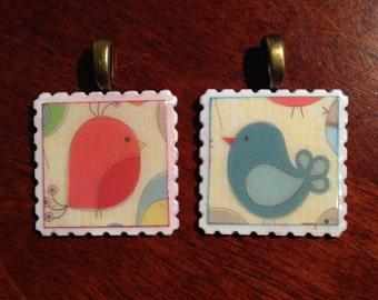 unique postage stamp pendants