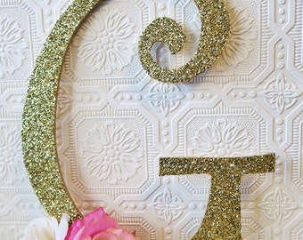 Large Letters For Nursery Wall Large Wall Letters Gold Letters Baby Girl Nursery Decorative Wall Letters