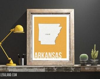 I love Little Rock, Arkansas, AR, 11x14 or 8x10, customizable city, I heart pop art poster, digital art print, modern home decor state art