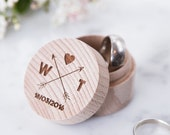 Personalised Wooden Arrows Ring Box - Engraved Ring Box - Arrow Wedding - Gift for Couples - Personalised Ring Box - Tribal Wedding