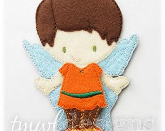 Woodland Fairy B Felt Paper Doll Toy Outfit Digital Design File - 5x7
