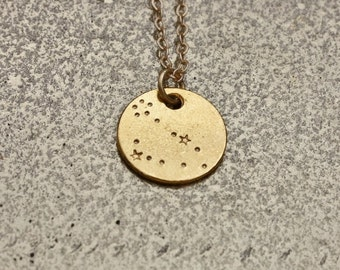 PISCES Constellation, Pisces Necklace, Constellation  Necklace, Zodiac Necklace, hand stamped jewelry, astrology jewelry, gift jewelry.