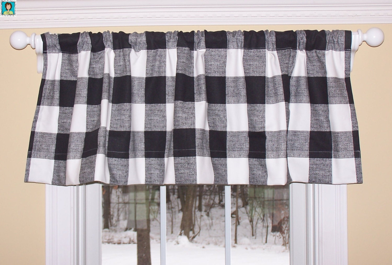 Buffalo Check Valanceblack And White Checks Curtains
