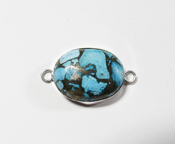 bright blue copper turquoise gemstone cabochon