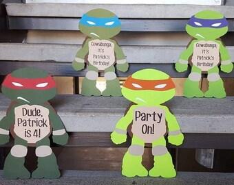 Teenage Mutant Ninja Turtles Party Signs, TMNT party, Ninja Turtles