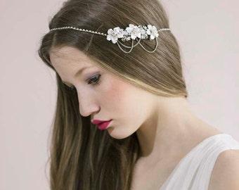 Wedding Crystal Headband,Hair Chain,Wedding Crystal Tiara,Head Chain For Wedding,Hair Chain Bridal,Head Jewelry Chain,Wedding Hair Chain