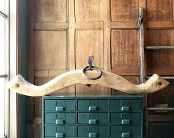 Antique Oxen Yoke, Antique Wooden Yoke, Wood OX Yoke, Primitive Decor, Industrial Decor