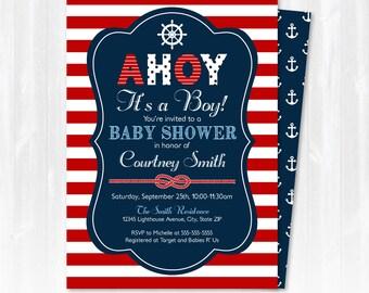nautical baby shower  etsy, Baby shower