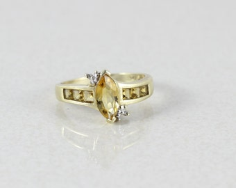 10k Yellow Gold Citrine Ring Size 7 1/2
