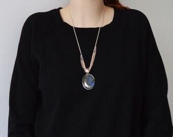 Necklace l Labradorite (real silver)