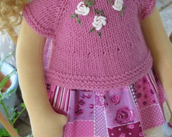 Waldorf doll clothes for 17,18 inch  doll – 3 pieces   clothes  set