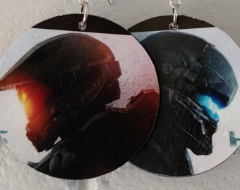 Halo video game earrings