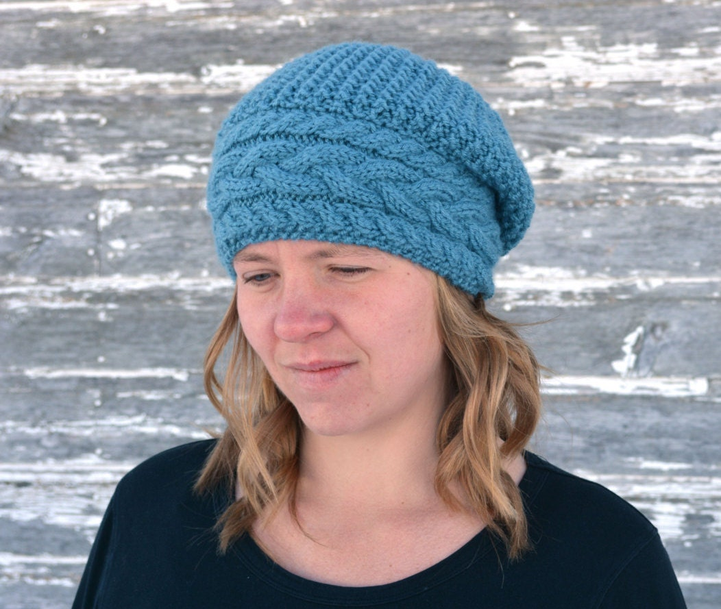 Knitted Beanie Patterns For Adults : Hat knitting pattern / Seamless knit hat pattern / Knitted hat