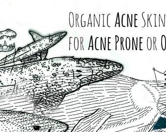 Organic Acne Treatment Set - Acne Serum - Acne Toner - Acne Mask - Natural Acne Care