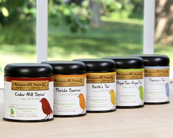 TRIO Herbal Tea Gift Set, Caffeinated Tea, Loose Leaf Herbal Tea, Housewarming Gift, Teachers, Christmas