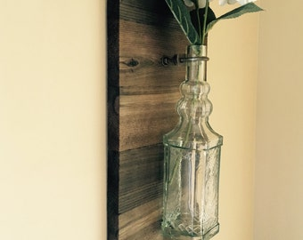 Rustic Barn Wood Glass Vase Wall Sconces, Wall Sconces, Rustic Decor, Wooden Wall Sconces, Rustic Wall Decor