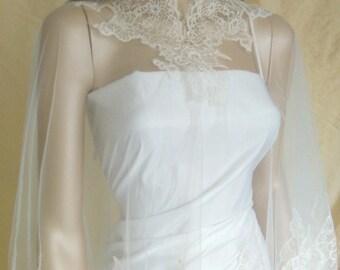 bride cape, veil, wedding accessories