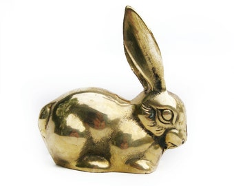 Vintage Brass Bunny Rabbit Figurine