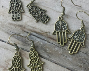 giftset earrings Hamsa