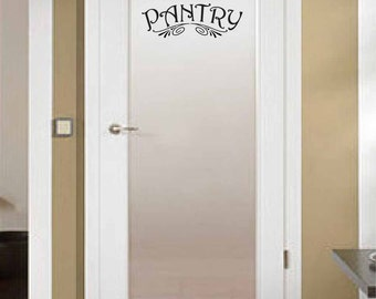 Pantry Vintage Style Decal for Wall or Glass Door