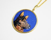 Custom Pet Embroidered Pendant. Custom Portrait. Birthday Gift Ideas for Pet Lovers. Pet Memorial. Cat Dog Lover Jewellery. Pet Needlework.
