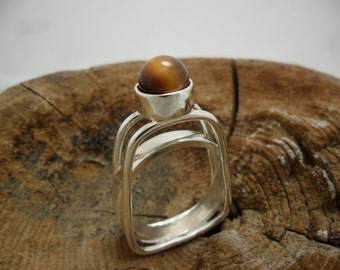 Ring in sterling silver with Pearl eye