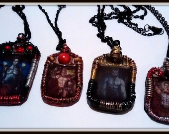 Ares-Hekate-Pan-St. Expedite Wire Bound Necklaces, *Sold Separately*